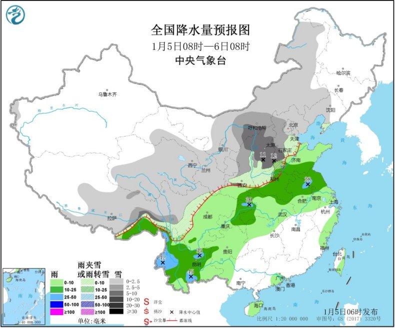 """新年首轮大范围雨雪已""""发货"""" 江南温暖或破历史纪录"""