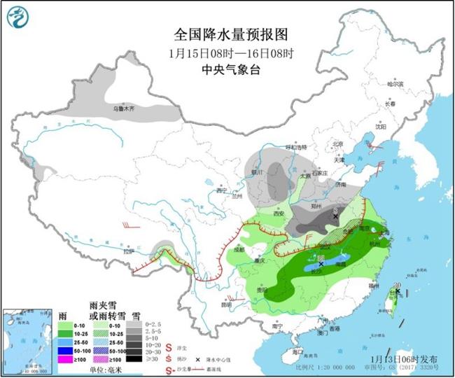 """中东部大范围雨雪天气又要""""开工"""" 华北黄淮霾反复"""