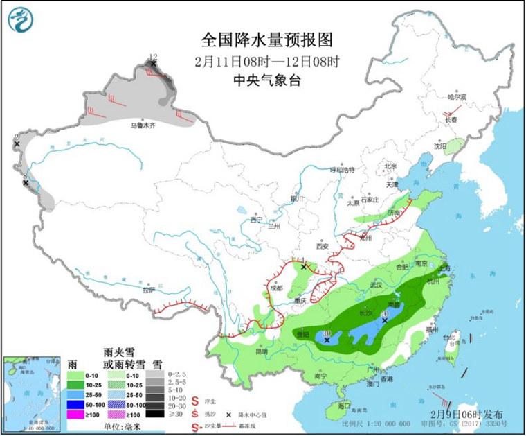 北方多地将迎今年首个10℃+ 南方明起再迎大范围降雨