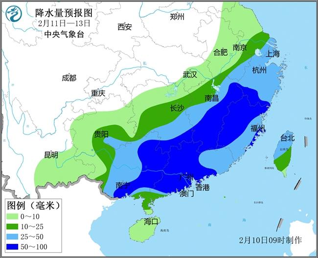 """南方降雨继续""""车轮战""""  广东广"""