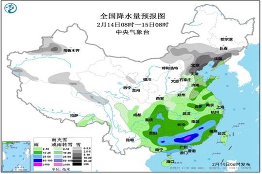 今明天北方有强降雪 中东部迎大风降温