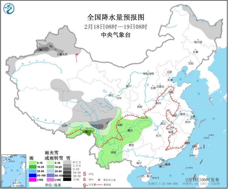 中东部雨雪稀少气温升 江南本周冲击20℃