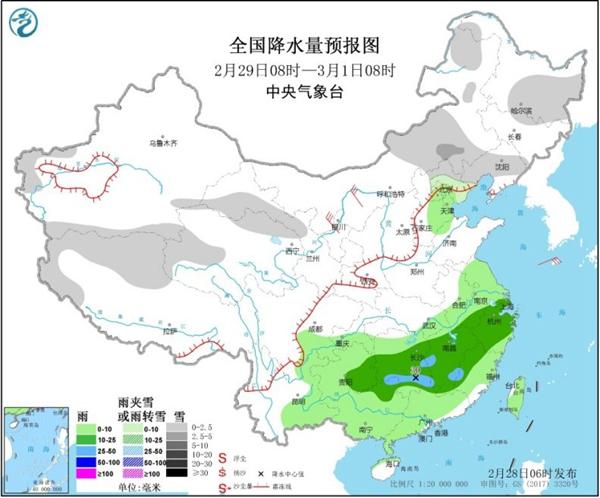 雨水频扰长江中下游 冷空气接连来袭难回温