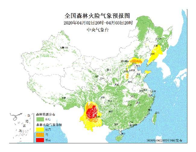 未来三天四川云南局部森林火险气象等级极高