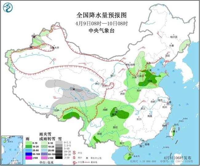 """华北黄淮迎春雨气温""""俯冲"""" 太原石家庄郑州不足10℃"""