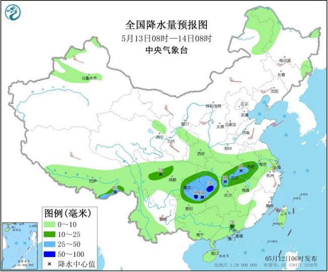"""南方大范围降雨明天登场 北方冷空气频繁气温坐上""""过山车"""""""