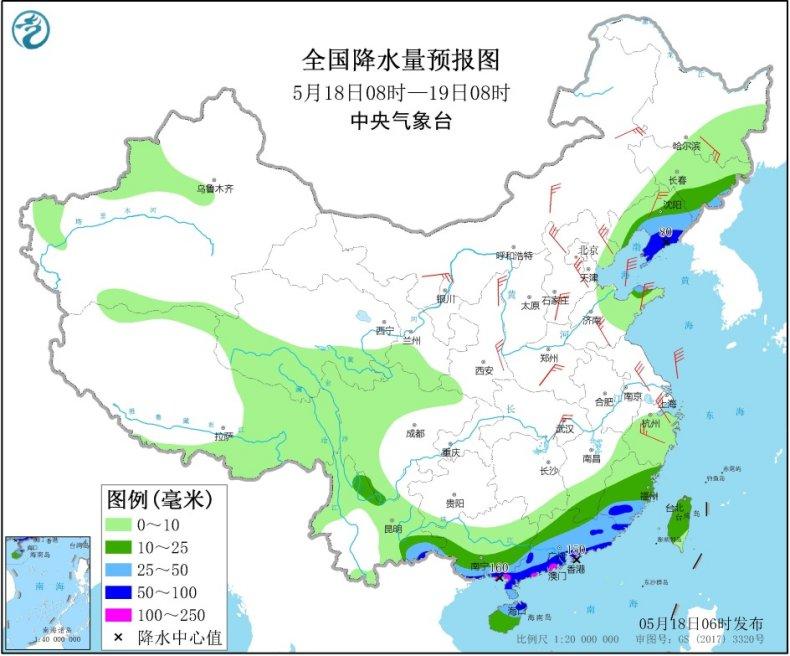 强降水集中发力东北华南 北方仍有大风沙尘