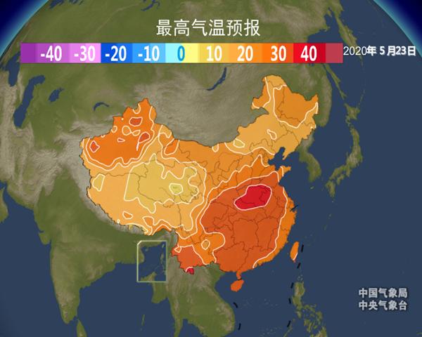 周末高温或影响这六个省区 当心臭氧污染和干热风