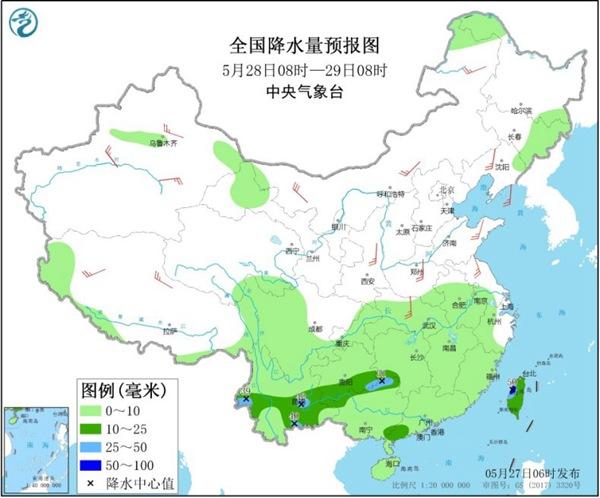 今明两天云南局地雨势仍强劲 北方气温先升后降