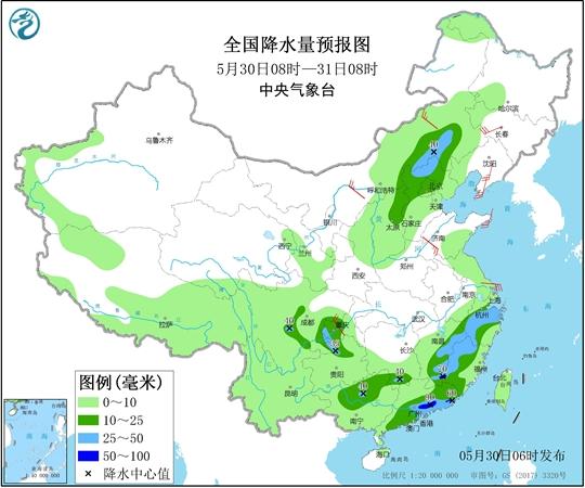 南方降雨一轮接一轮 华北东北有雷雨降温
