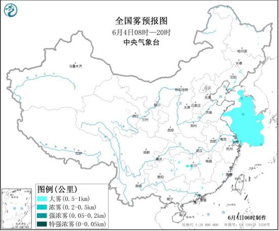 大雾预警!辽宁湖南等地的部分地区有大雾 局地能见度低于500米