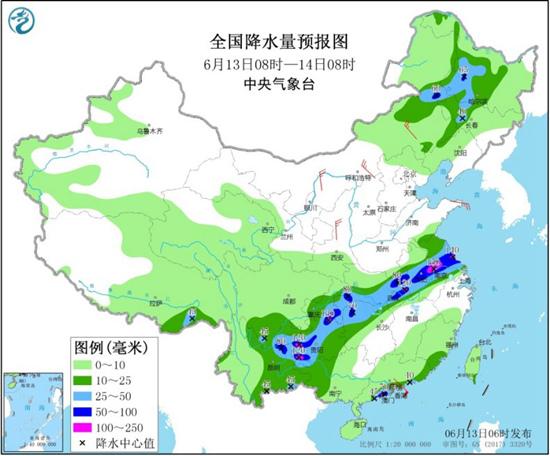 """西南江淮强降雨增多 高温南北两端""""冒头"""""""
