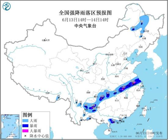 暴雨黄色预警 江苏安徽湖北贵州局地有大暴雨