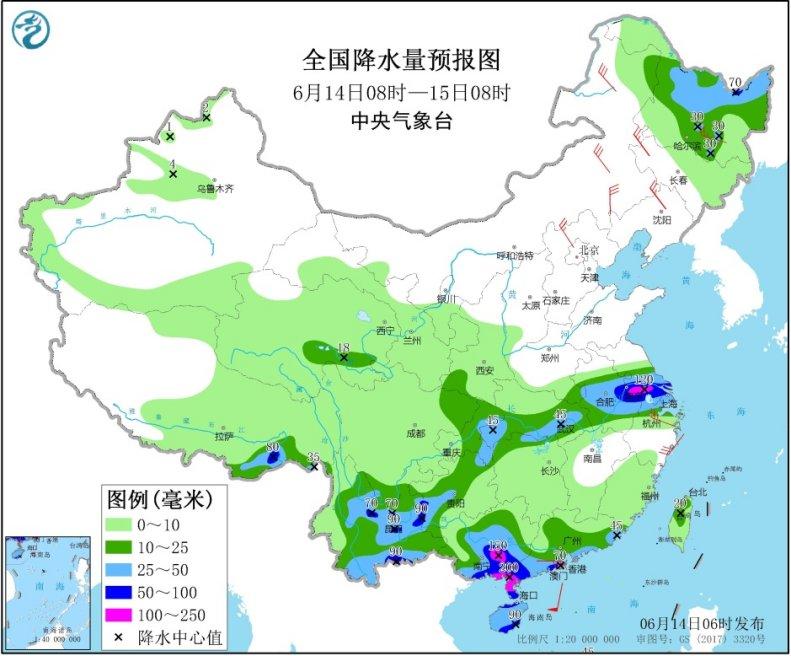 江淮一帶強降雨持續 東北華北警惕風雹
