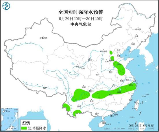 强对流天气蓝色预警 9省区将有8至10级雷暴大风