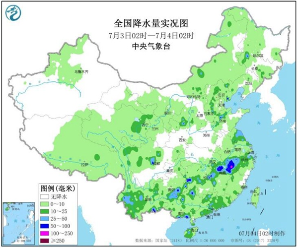 """西南地区至长江中下游雨势增强 江南华南继续""""焖蒸"""""""