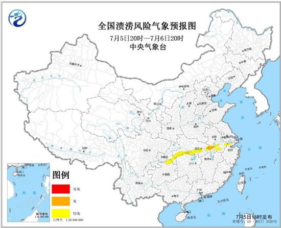渍涝风险气象预报 浙江安徽湖北局地渍涝气象风险高
