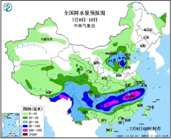 湖北江西局地雨量破纪录! 8至10日仍有强降雨防洪形势严峻