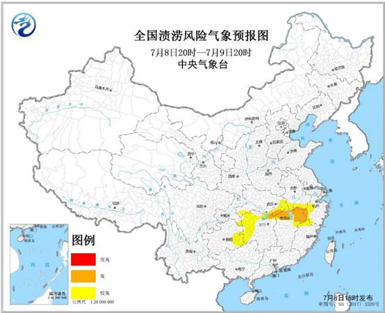 渍涝风险预报:浙江安徽等局地渍涝气象风险高