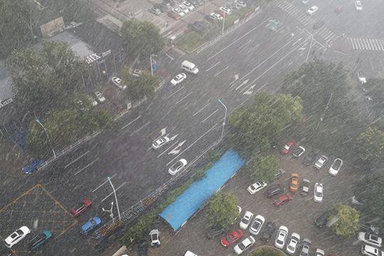 陕西北部今天雨势仍猛烈 延安等地局地有暴雨