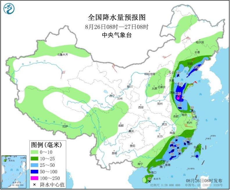 台风携风雨影响山东辽宁等地 冷空气启程将袭西北华北