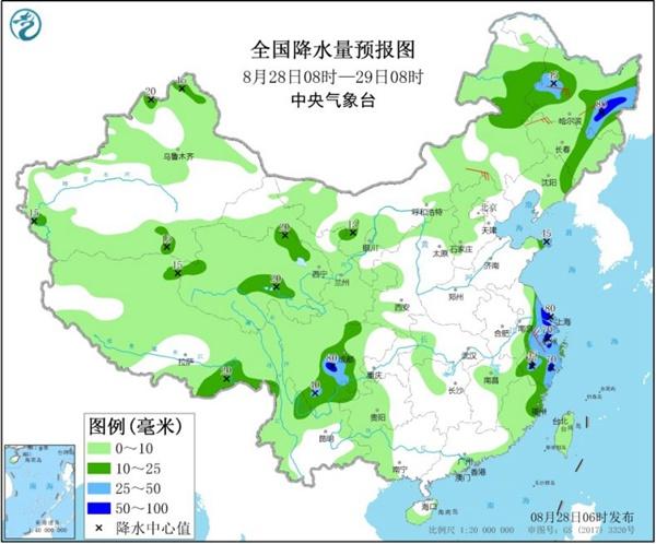 黑龍江吉林今日雨勢仍強勁 南方呈現西熱東雨格局