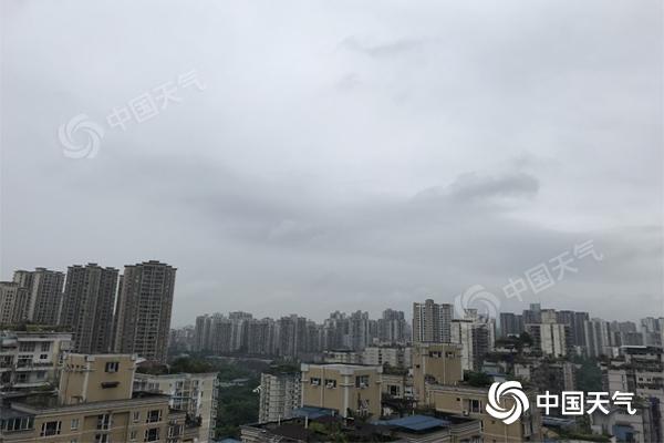 """重庆未来三天多降雨 全市最高温下滑至""""2""""字头"""