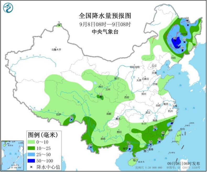 """台风""""海神""""携风雨影响东北  江浙沪等地高温短暂反弹"""