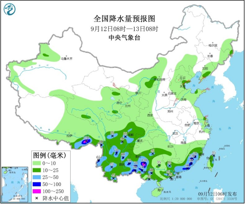西南华南降雨持续局地暴雨 北方秋意渐显