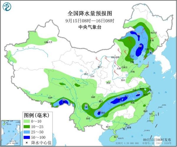 西南華北等地雨水在線 多地氣溫將創立秋后新低