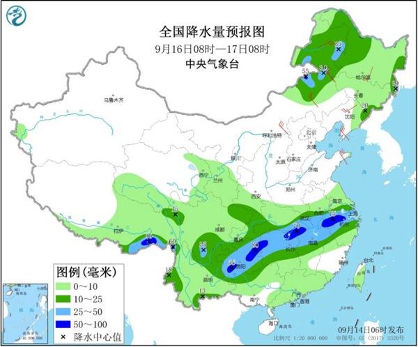 大范圍降水席卷中東部 華北等地秋意濃
