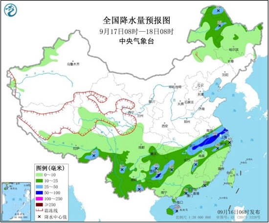 """台风""""红霞""""影响南海 贵州江南中北部等地有较强降雨"""