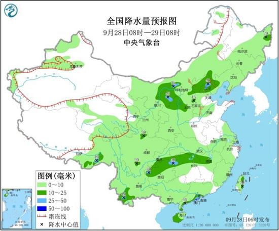 西南江南等地阴雨盘踞 东北华北气温陆续转偏低