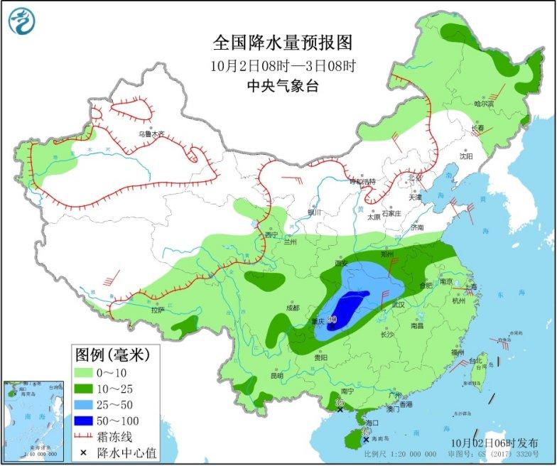 南北方氣溫將大面積創新低 江漢江南等地局部有暴雨