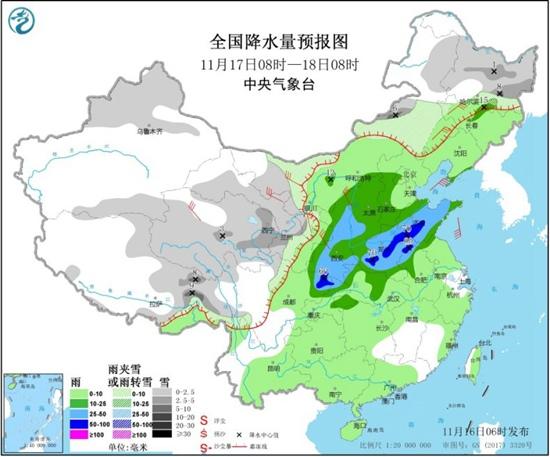中东部气温冲高回落 大范围雨雪将开启