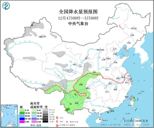 中东部大部雨雪稀少 华南气象干旱持续