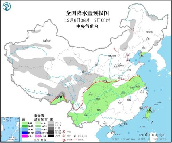 新冷空气影响北方 西南东部等地多阴雨