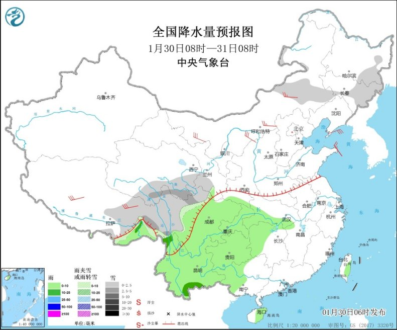 冷空氣明日登場 內蒙古東北降溫超10℃