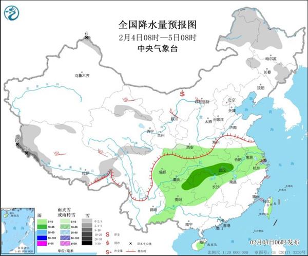中东部持续回暖 长江中下游等地阴雨在线