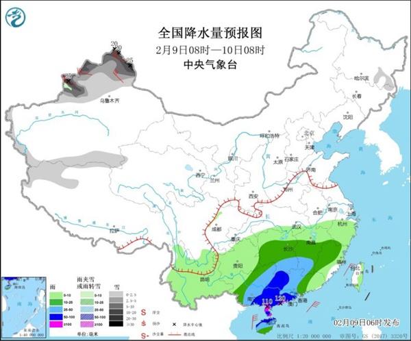 广东广西局地有大暴雨 江南等地降温持续