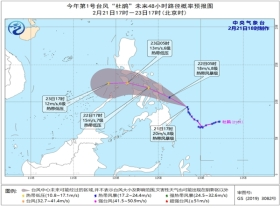 """臺風""""杜鵑""""將于明天上午登陸菲律賓沿海 23日移入南海"""