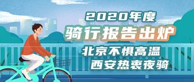2020年度骑行报告:北京不惧高温西安热衷夜骑