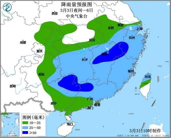 南方将现今年首次区域性强对流天气