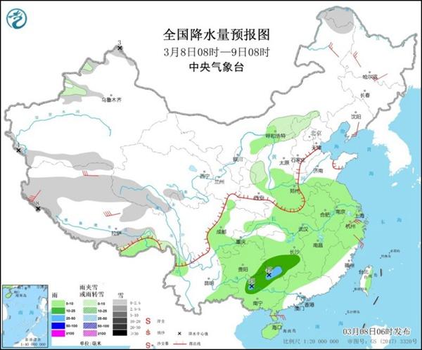 本周南方阴雨频繁 华北东北回暖明显