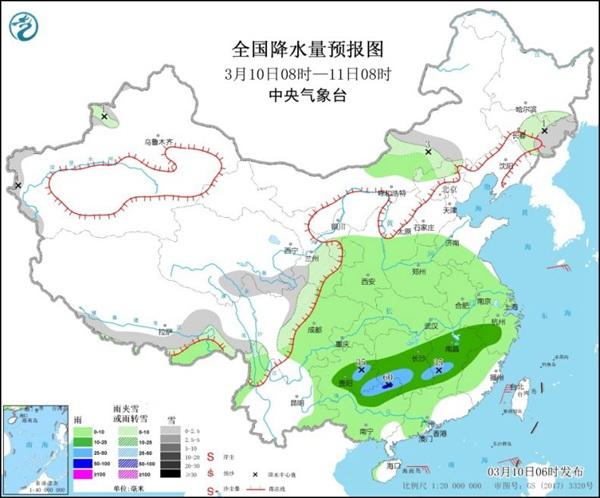 南方雨绵绵 北方多地气温创今年来新高