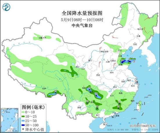 南方強降雨今日暫歇 華北黃淮氣溫火熱