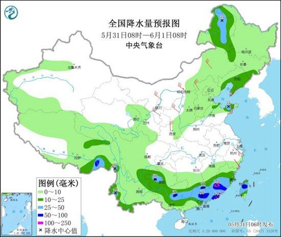 """華南""""龍舟水""""發力 北方大風頻繁"""