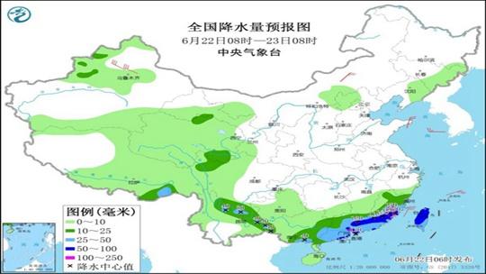强降雨转移至华南 南北方高温渐消退