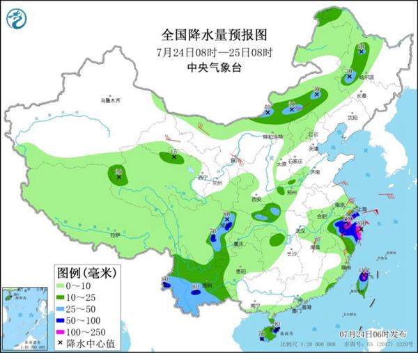 """台风热带低压活跃 """"烟花""""致华东沿海风雨强劲"""