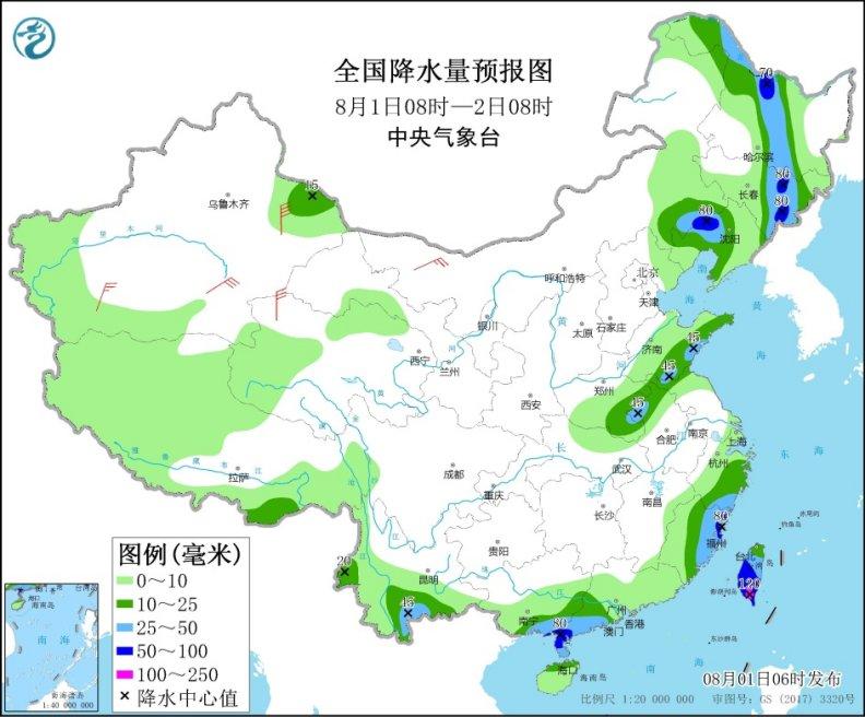 东北等地有较强降雨 西南江南高温持续